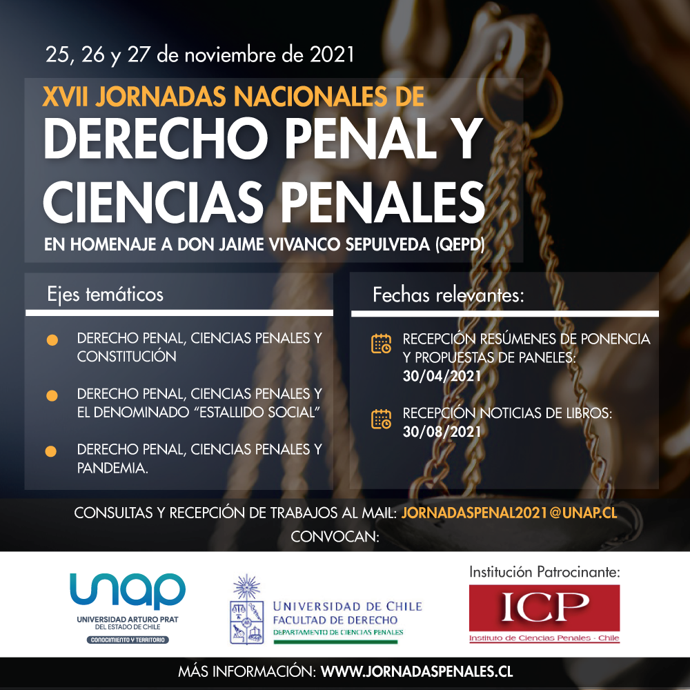 Afiche Jornadas Penales